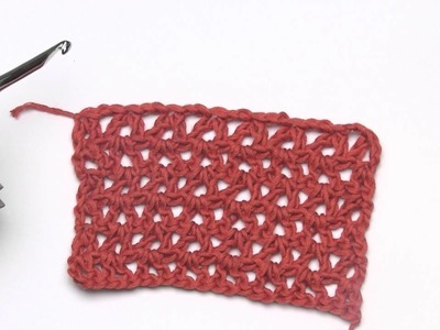 How to Crochet: Working Into the Other Side of the Foundation Chain (Left Handed)