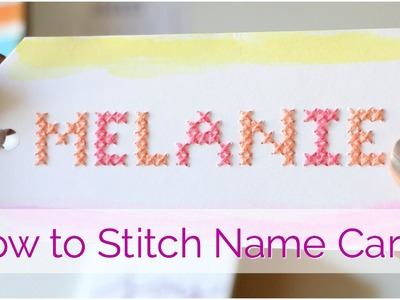 How to Cross Stitch Place Cards: Mother's Day Brunch DIY