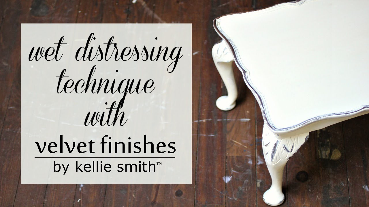 How to Distress your Furniture with the Wet Distressing Technique