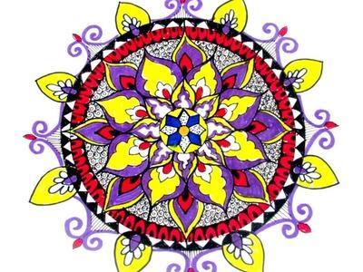 How to Draw - Mandala.MANDALA WEEK.DAY-3.TUTORIAL