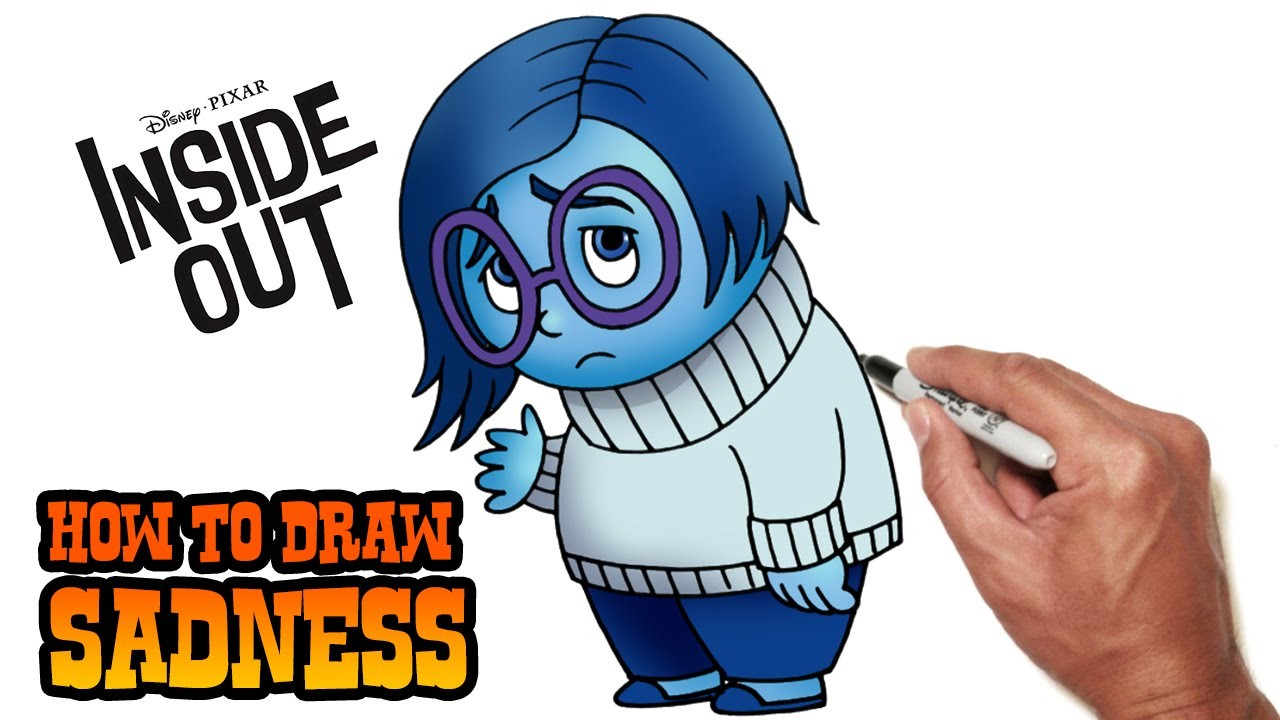 How to Draw Sadness (Inside Out)- Step by Step