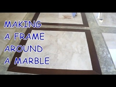 How to Install Prefinished Hardwood Frame around a Marble Tile Mr Youcandoityourself