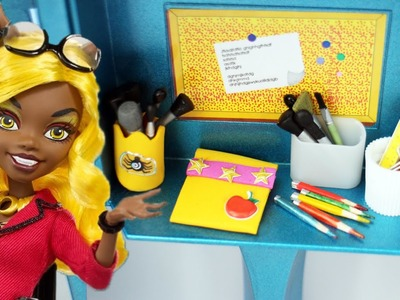 How to make a doll pencil holder and pencil case - Doll Crafts