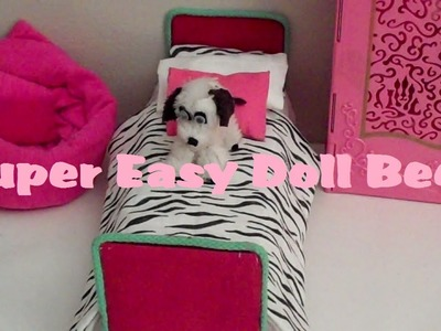 How to Make: a (EASY) Mini Doll Bed - (DOLL CRAFTS)!!