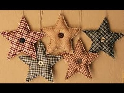 HOW TO MAKE A PRIMITIVE CLOTH, FABRIC, or FELT CHRISTMAS ORNAMENT