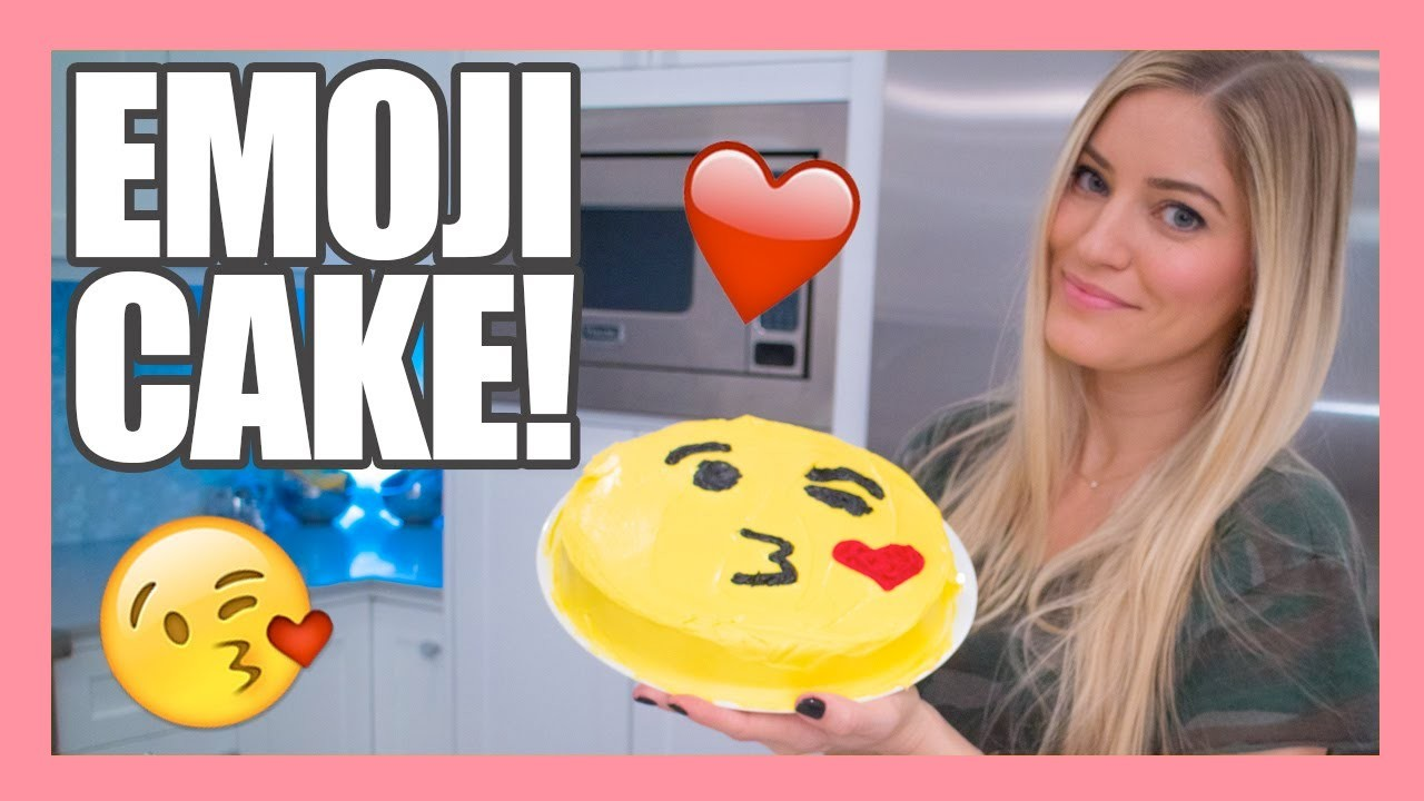 How to make a Valentine's Emoji Kiss Cake!