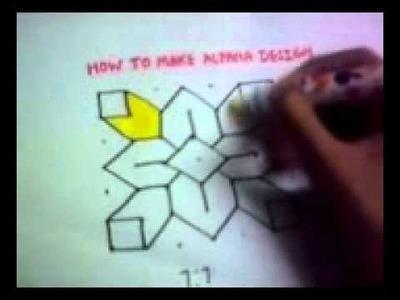 HOW TO MAKE ALPANA DESIGN