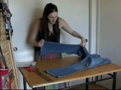 How to Make Bell Bottoms Out of Jeans : Cutting Out Inserts for Bell Bottom Jeans