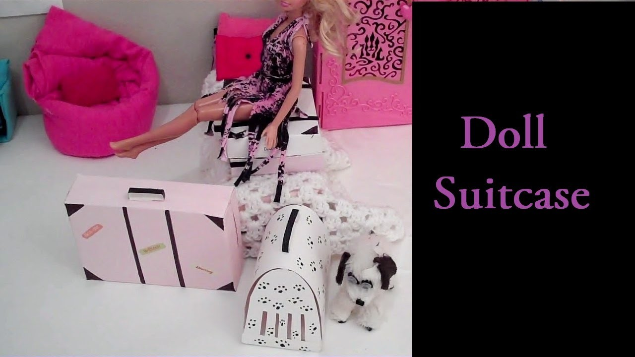 How to Make Doll Suitcase! (Doll Crafts)