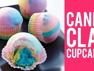 How to Make Tie-Dye Candy Clay Cupcakes