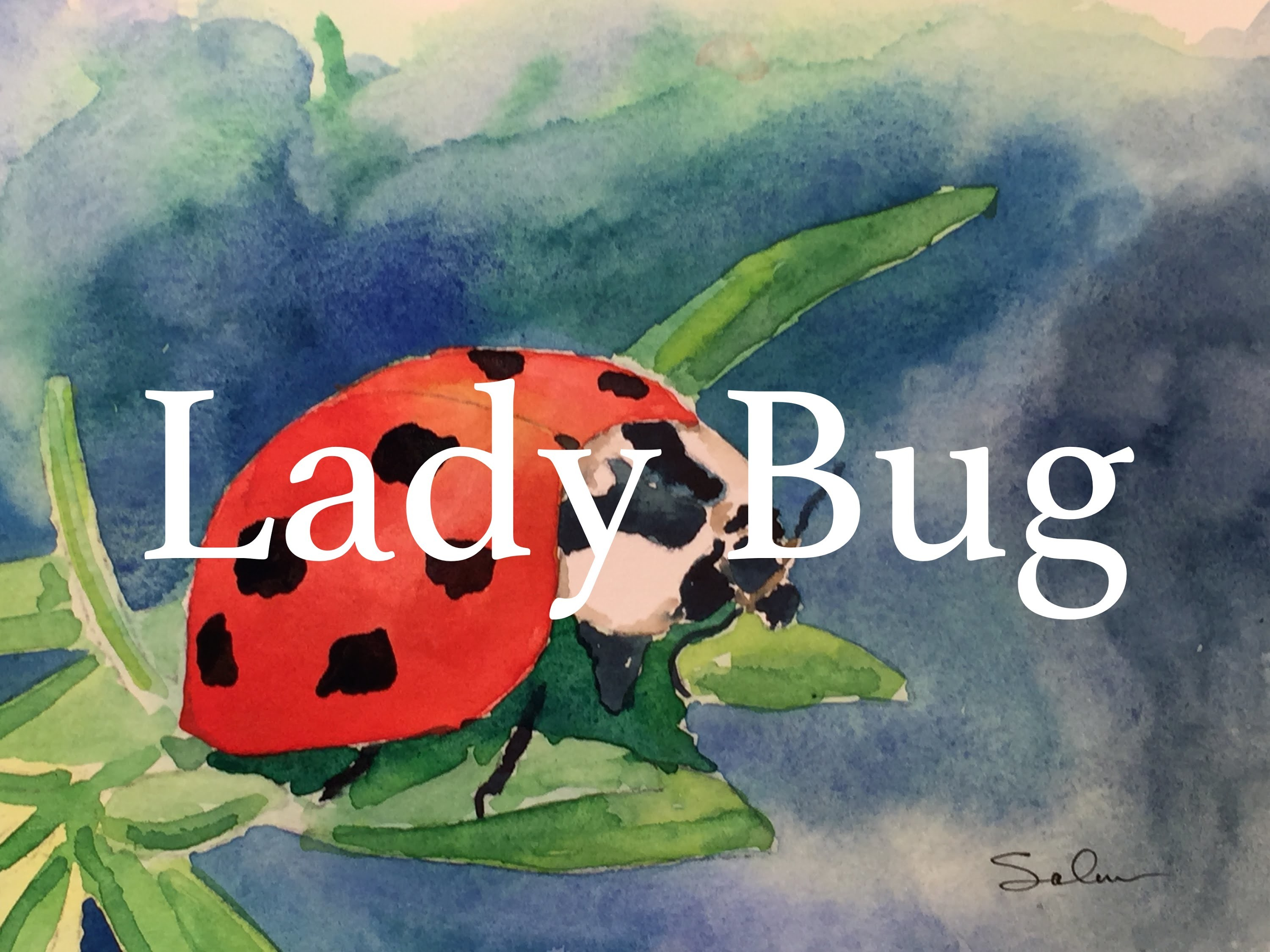 How to paint a Lady Bug in Watercolour Tutorial Watercolor Cute Red
