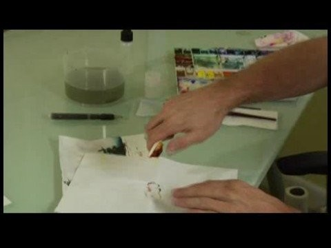 How to Paint a Snowscape Watercolor Painting : Splatter Painting a Snowscape