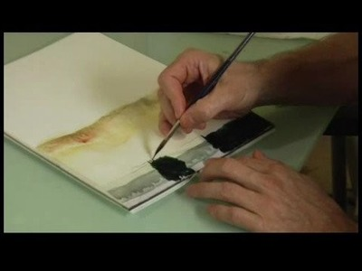 How to Paint a Watercolor Landscape : Watercolor Painting: Tree Trunks