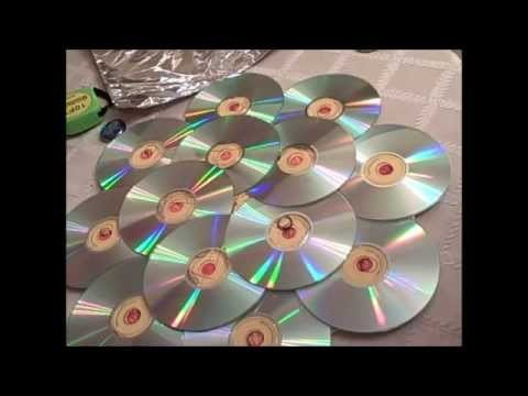How to Recycle CD's by making a Door Wreath