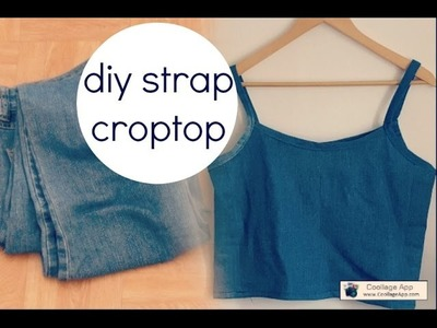 How to Recycle old jeans into a spaghetti strap croptop