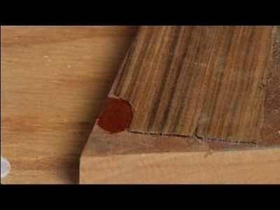 How to Repair Wood Veneer Furniture : How to Glue Wood Veneer Furniture Patch