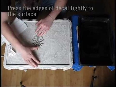 How to Shabby Chic Furniture #3 WATER DECAL PRINT TRANSFER