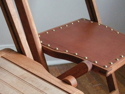 Leather Work for Furniture - The Funeral Chair part eight.