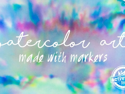 Make Watercolor Art with Markers