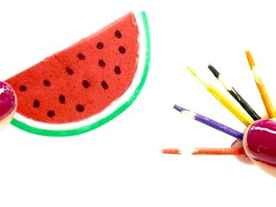 Miniature dollhouse watermelon pencil case REALLY WORKS l school supplies l Dollhouse DIY ♥