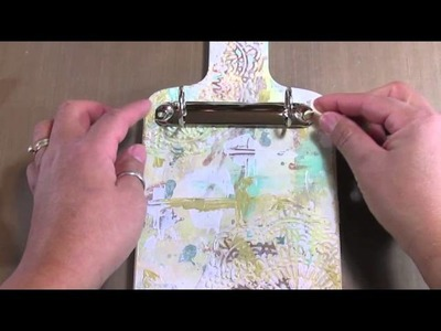 "Mixed Media Cutting Board ""2014"" Calendar with Tutorial!"