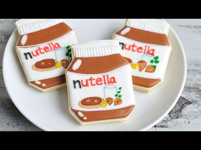 NUTELLA JAR  COOKIES, HANIELA'S