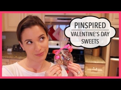 Pinspired | Valentine's Day Sweets | Chocolate Dipped Rice Krispie Treats