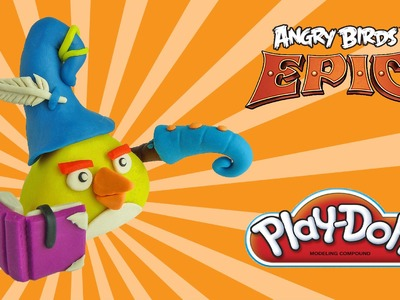 Play doh angry birds epic chuck yellow bird - how to make with playdoh