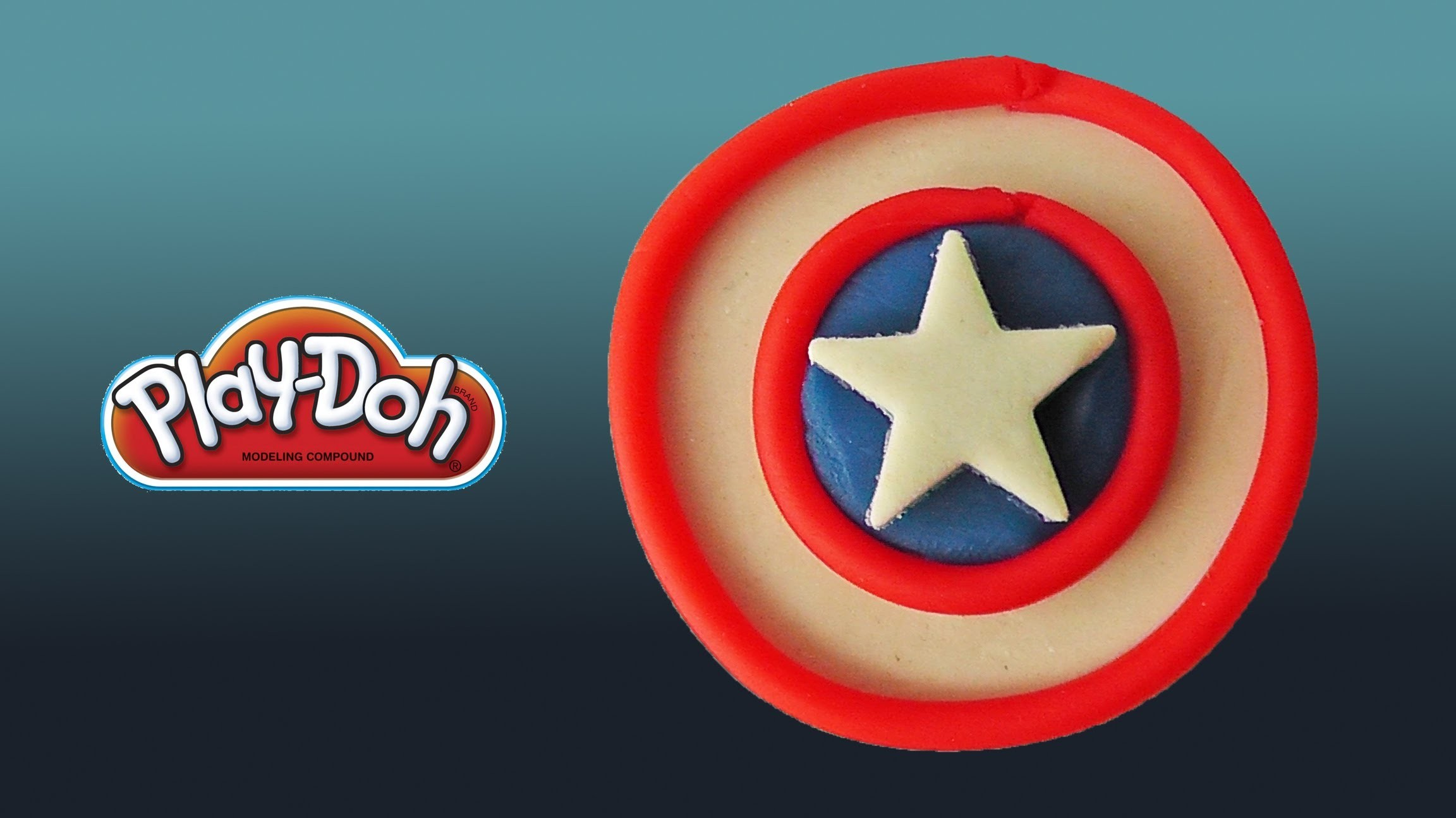 Play Doh Captain America's Shield