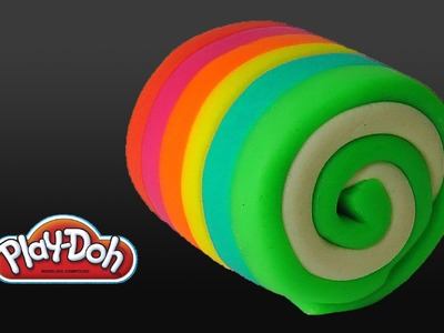 Play Doh Rainbow Cake Roll