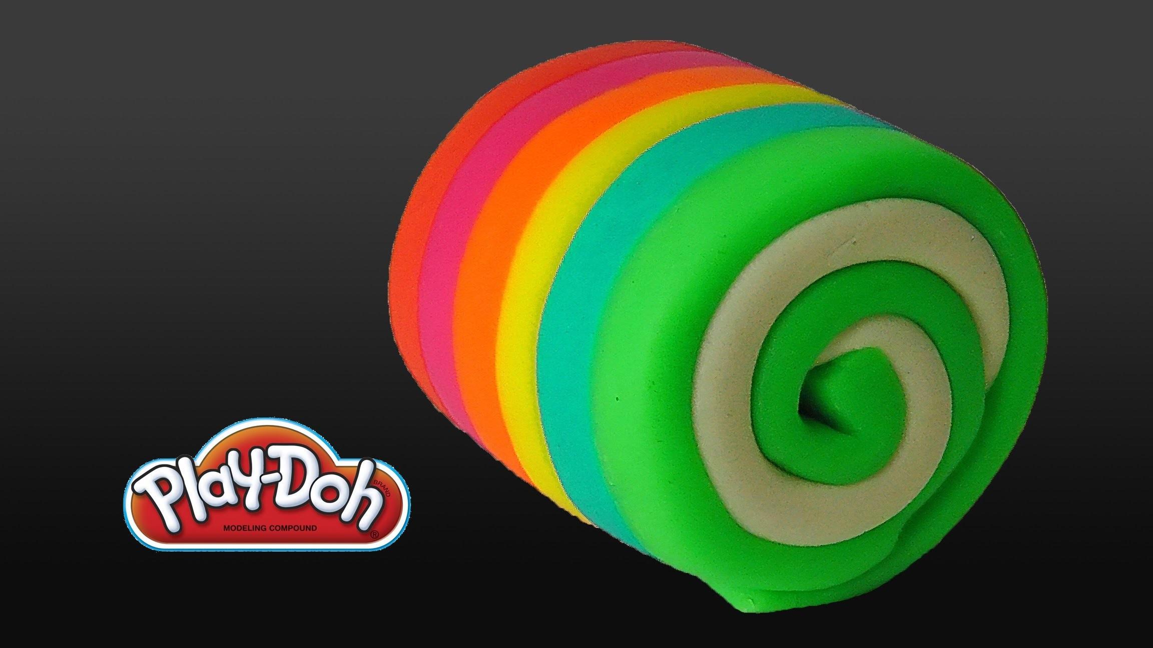 Play Doh Rainbow Cake Roll
