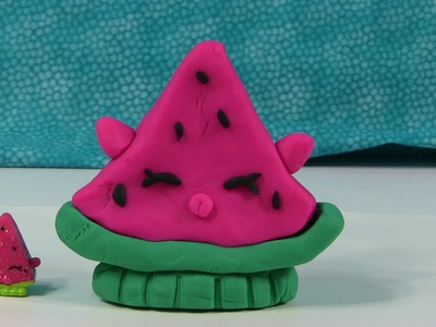 Play-Doh Shopkins Melonie Pips Can We Make A Custom Challenge