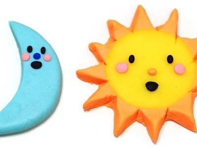 "Play-Doh Sun and Moon Cute ""Good Night Moon"" ""Good Morning Sun"" Easy"