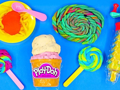 Play Doh Twirl 'n Twister Ice Cream Sweet Shoppe Play Dough Lollipops Plastilina Frozen Barbie