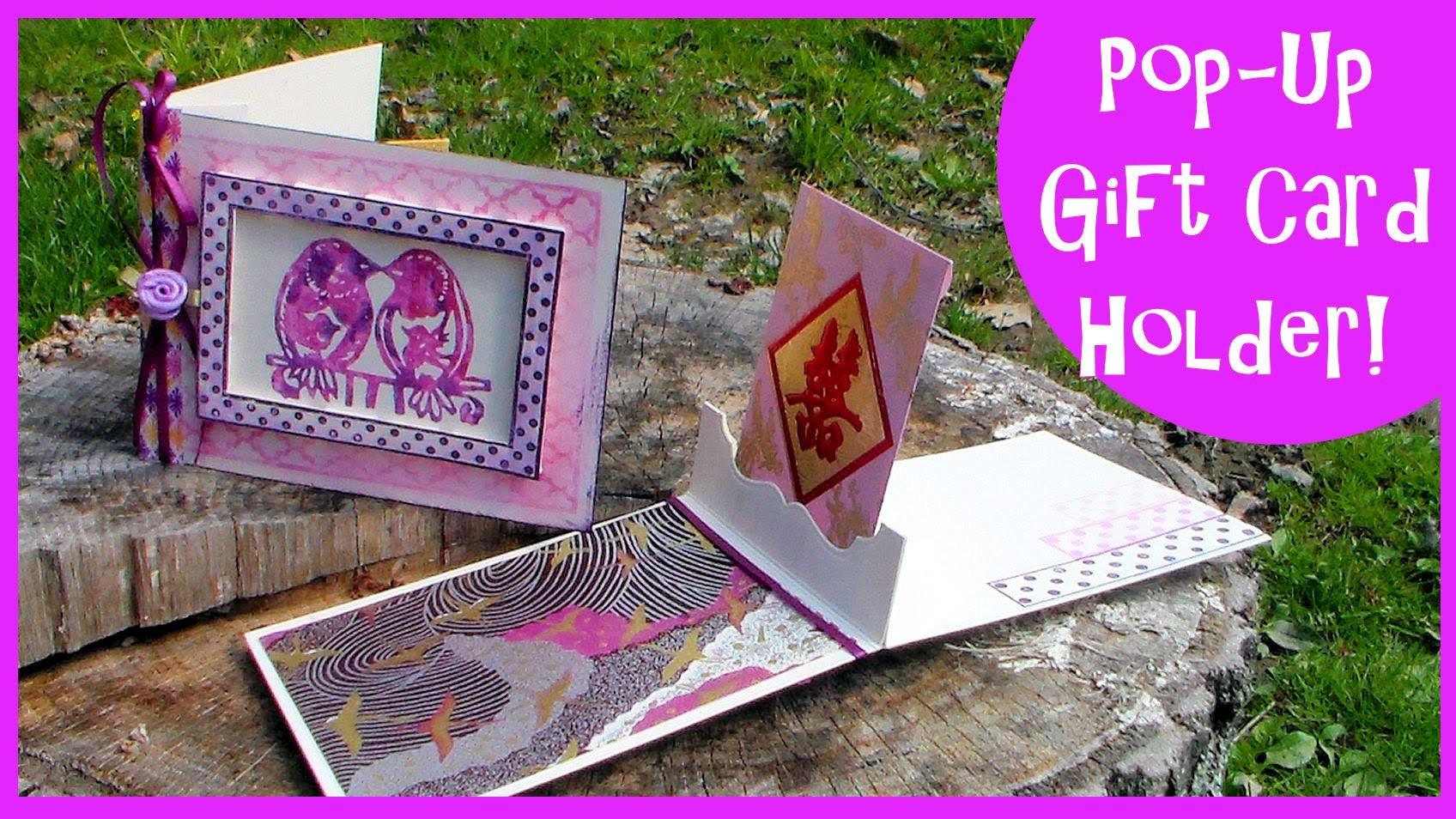 Pop-Up Gift Card Holder. Stamp School