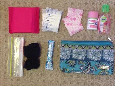 Pre period kit for school
