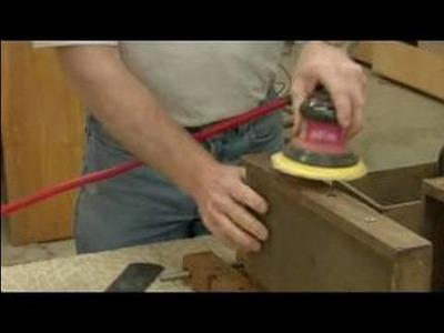 Repairing Wood Veneer Furniture : Sanding & Cleaning Wood Veneer
