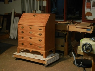 Slant Front Desk Building Process by Doucette and Wolfe Furniture Makers