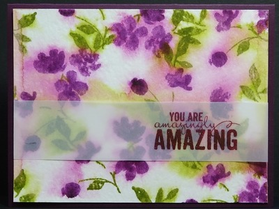 Stampin' Up! Painted Petals Watercolor Rubber Stamp Technique