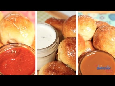Stuffed Pretzel Bites 3 Ways