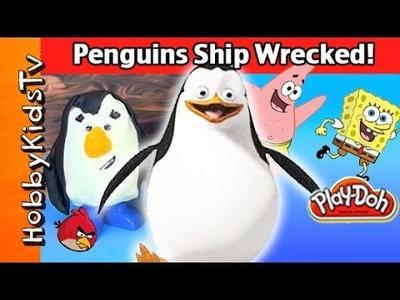 Surprise PENGUIN Eggs Ship Wrecked! Spongebob Patrick + Candy by HobbyKidsTV