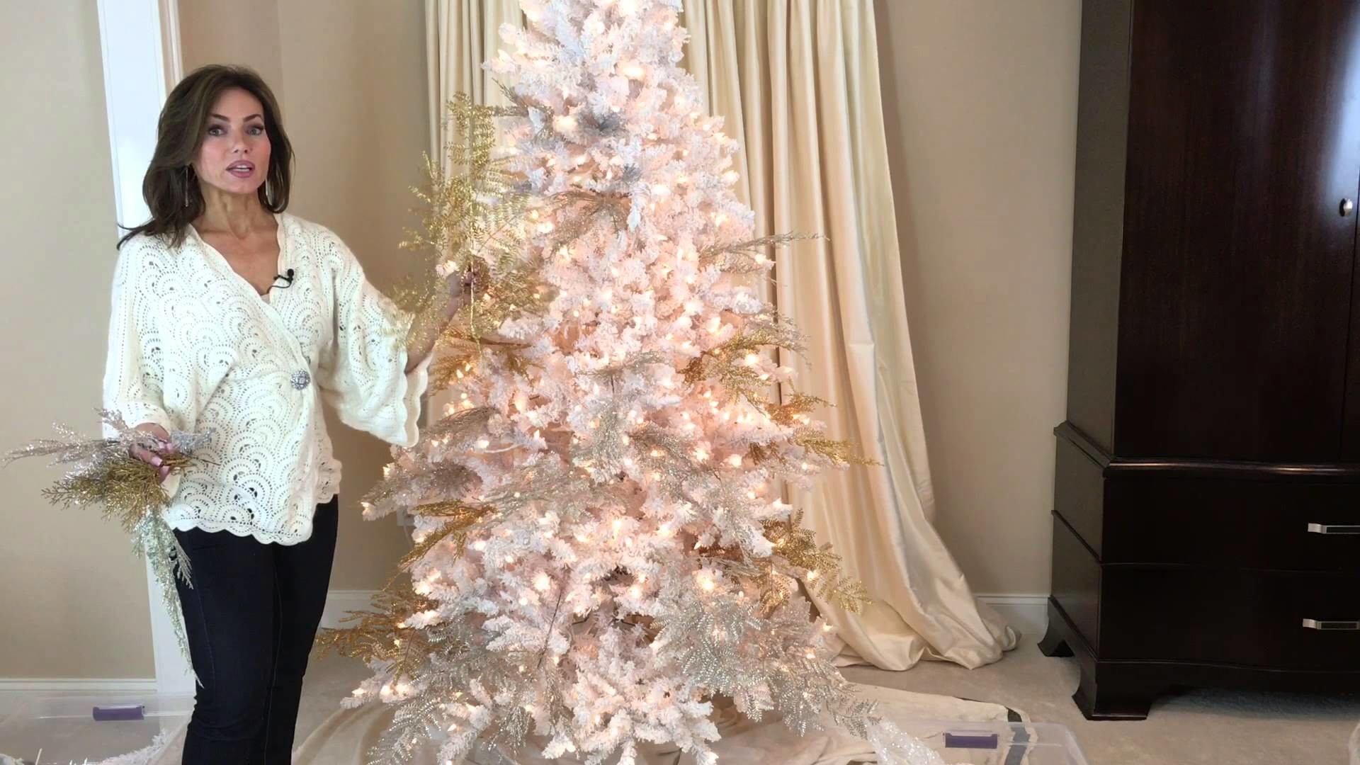 The Secret it Took Me Years to Learn in Decorating a White Flocked Christmas Tree (Part 3 of 8)