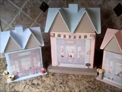 Tilda Bakery, Flower and Toy Shops (for storage or Doll House)