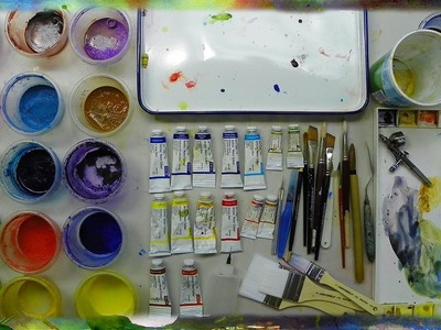 """Tools and Materials for Watercolor Painting"" by Ross Barbera"