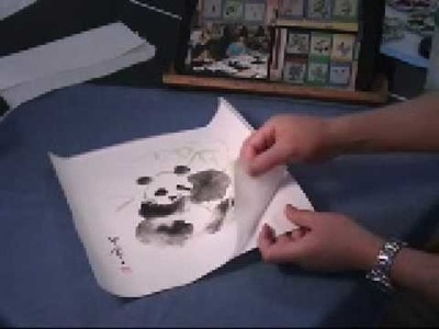 What is Rice Paper? Panda Chinese Watercolor Painting on Paper Napkins (2.2)