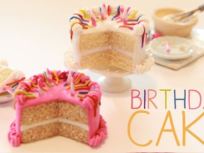 Birthday Cake - Miniature Polymer Clay Tutorial