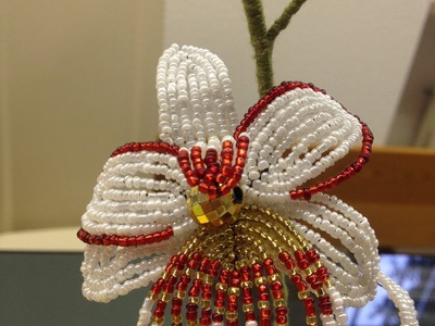 Blumen aus Perlen. Orchidee. Teil 3.5. Flowers out of beads. Anna's Perlen.