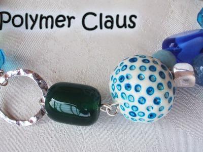 Bubbles Beads una collana estiva (polymer clay tutorial)
