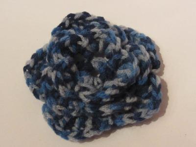 Cómo hacer una flor triple de ganchillo 1ª parte. Triple crochet flower.