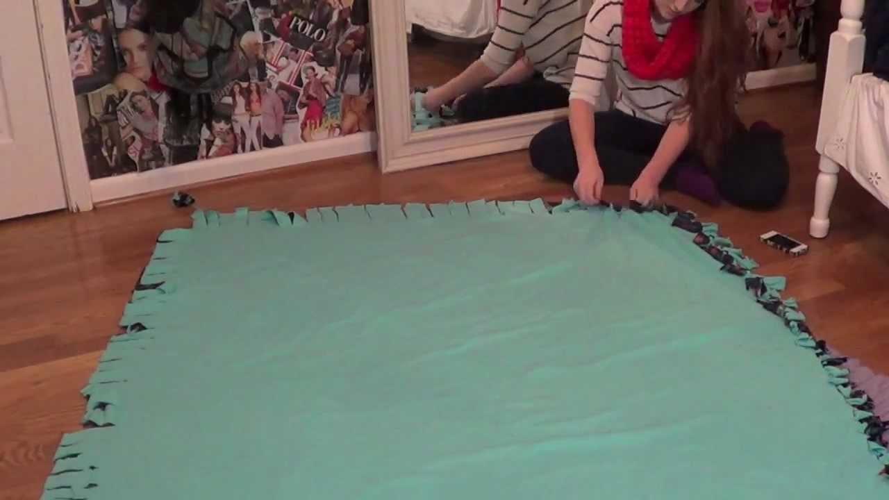 Creative Gift Ideas: DIY Fleece Tie Blanket! | MEGHAN HUGHES